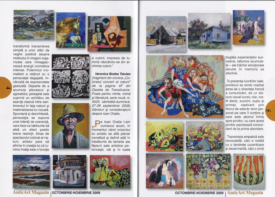 IOAN ORATIE in revista AnticArt magazin nr.36 oct-nov 2009 pag. 4,5
