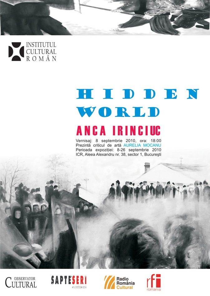 Afis - invitatie Expozitie HIDDEN WORLD - ICR sept. 2010