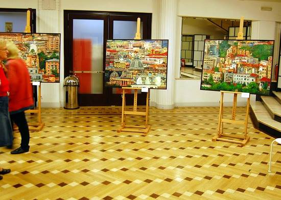 "Laurentiu Midvichi la expozitia ""Masterpieces of Bucharest"" 555 ani Elite Art Gallery de la ARCUB"