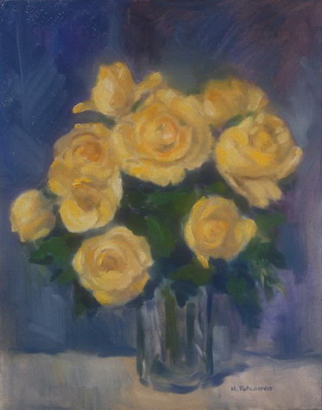 Mihai POTCOAVA - 0504 Yellow roses 41x51 up 1993
