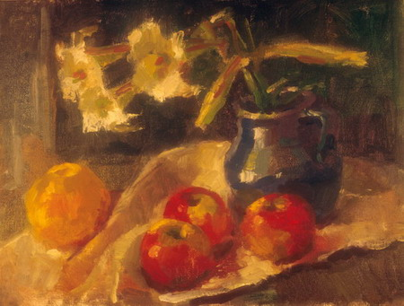 Mihai POTCOAVA - 0549 Lilies and fruits 30x41 up 1995