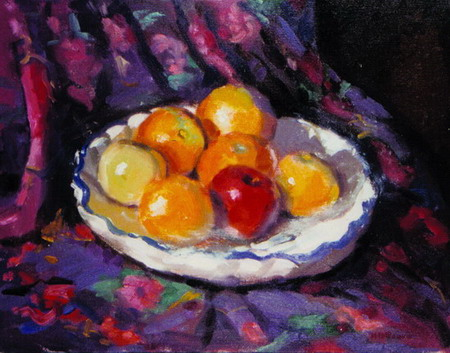 Mihai POTCOAVA - 0562 Still Life with Apples 41x51 up 1995