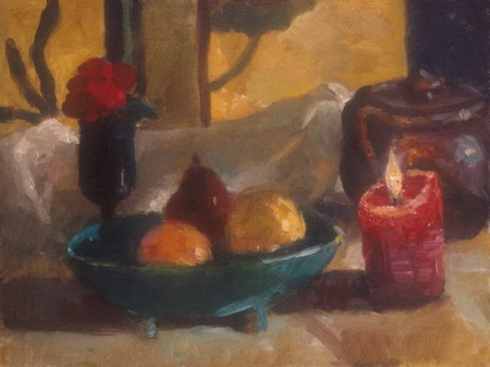 Mihai POTCOAVA - 0586 Still life with candle 30x41 up 1996