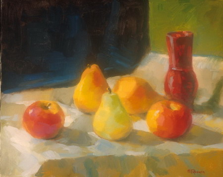 Mihai POTCOAVA - 0616 Apples and pears 41x51 up 1996