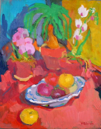 Mihai POTCOAVA - 0957 Orchids and fruits 41X51 up 2007
