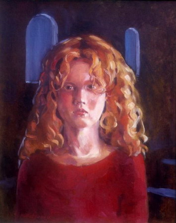 Mihai POTCOAVA - 0508 Girl with sunlit hair 40x51 up 1993