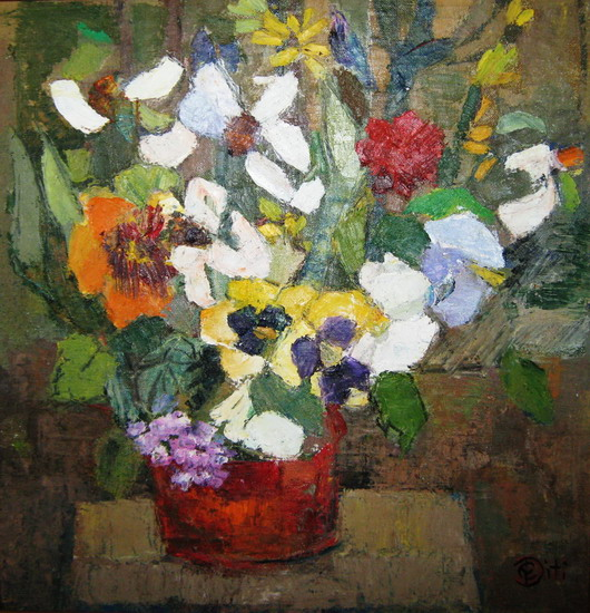 DEDU Cornelia Victoria - Vas cu flori Pictura Tablouri Galerie de Arta